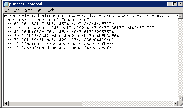 ProjectServer 2010 PSI data to a text file using #PowerShell #PS2010