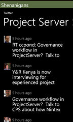 02 Twitter - Project Server