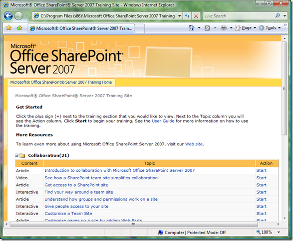 SharePoint Training Guide